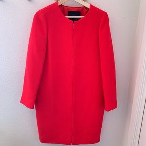 J Crew Double Cloth Collarless Day Coat